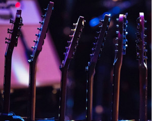 A shot of the guitar rack!
